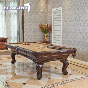 carved wood pool dining table black slate solid wood billiard table with dining top
