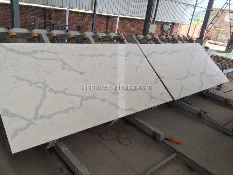 Engineering calacatta marble white quartz slabs, high quality artificial calacatta quartz slab price