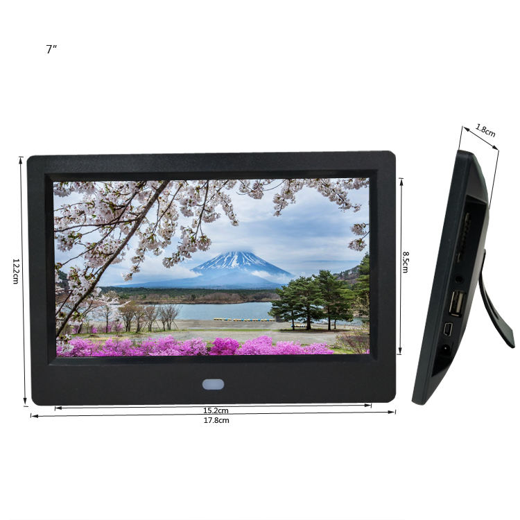 new 7 Inch Multifunctional Digital Photo Frame/Electronic Picture Album with Mirror Panel Music/Video/Time/Alarm