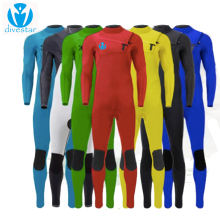 DIVESTAR Custom colorful neoprene suit,Chest zip 3/2mm full surfing wetsuit