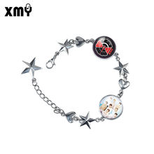 Hotsale BTS Kpop BT21 Blackpink EXO GOT7 Star Korea Fashion Bracelet Custom LOGO Alloy Charm Bracelet