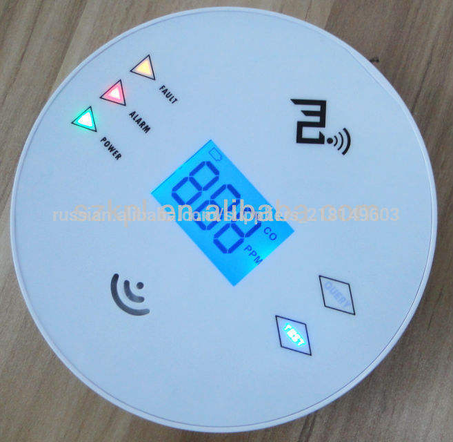 3v звуковой сигнал дома сотрудничества dector беспроводной утечки газа сигнализации, co датчика охранной сигнализации