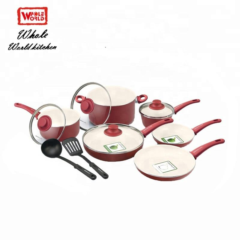 Used best ceramic coating nonstick cookware sets moq 1 no smoking set