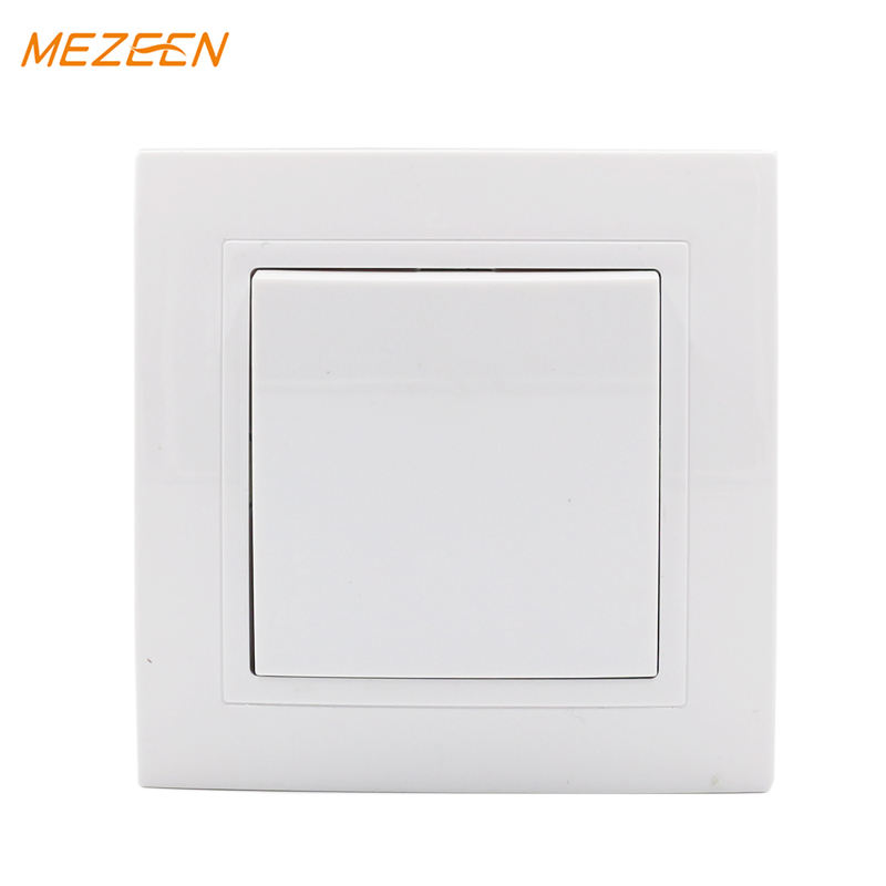 Interruptor de pared estilo europeo precio al por mayor 10A one gang interruptor de luz unidireccional