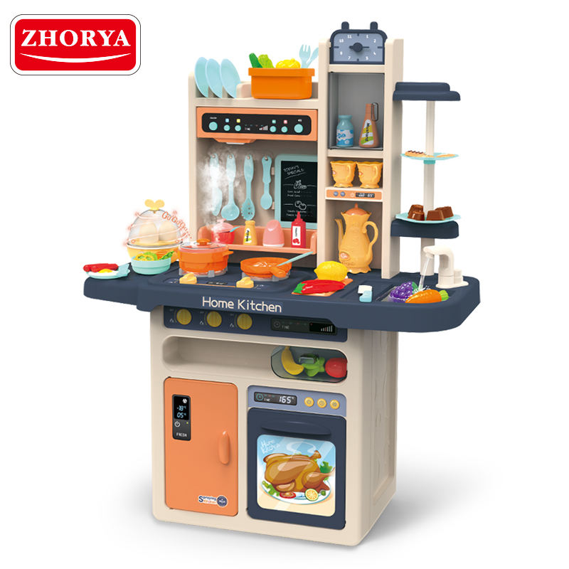 Zhorya pretend play cooking plastic kitchen set toys for kids
