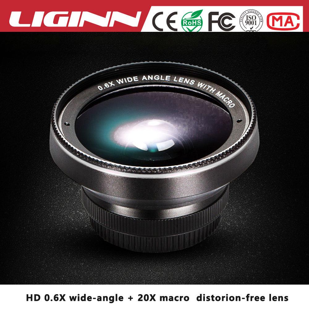 LIGINN toptan fiyat hiçbir bozulma 0.6X Süper geniş açı 20X makro 2 1 lens cep telefonu kamera smartphone