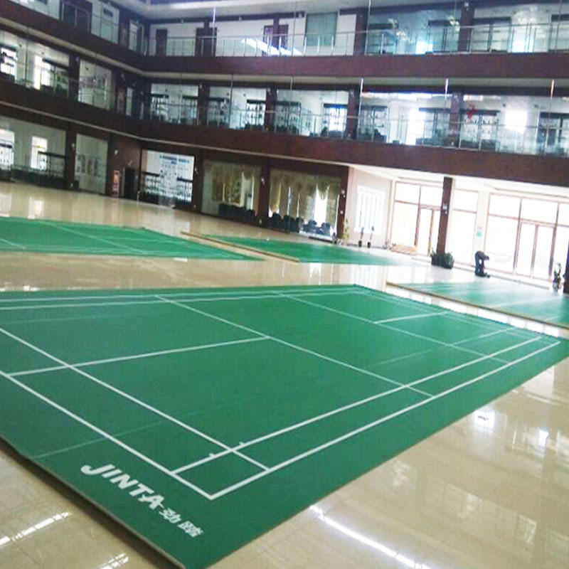 Alibaba suppler 4.5MM thickness PVC sport flooring for badminton court