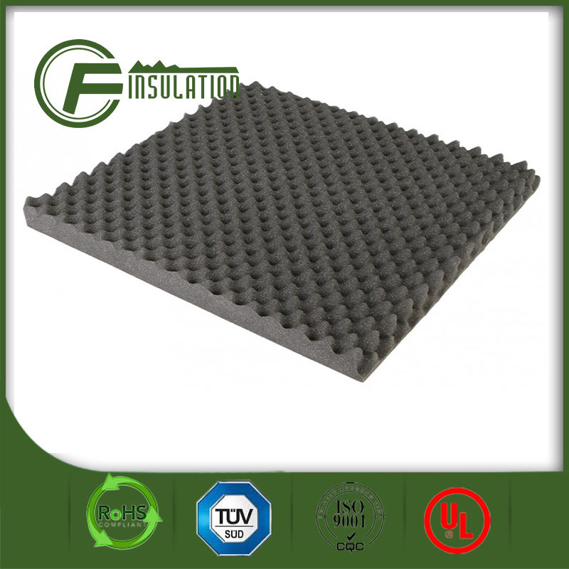 Polyester fiber high density soundproof pu acoustic foam panels
