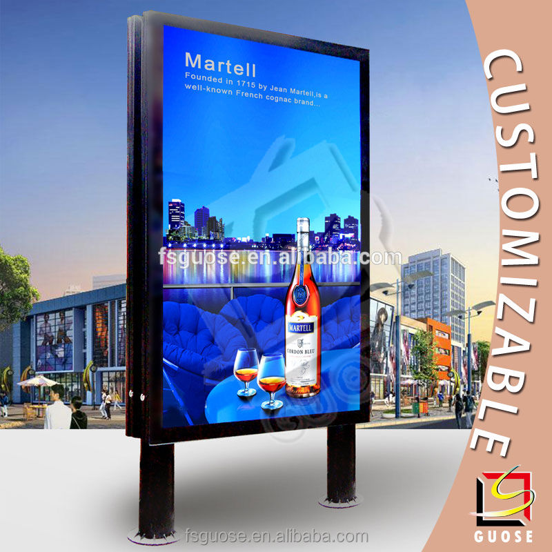 outdoor advertising standing big size digital photo frame light box signs