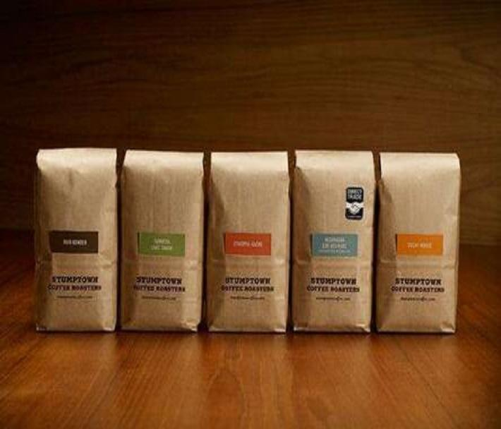 stand up coffee packaging kraft paper bags