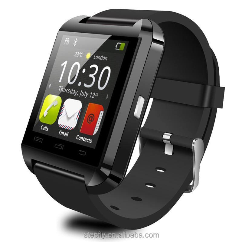 Reloj Bluetooth U8 para IOS IPhone 4/5S/6 Samsung S4/Note 3 <span class=keywords><strong>HTC</strong></span> Android/IOS teléfono reloj inteligente GT08 DZ09 A1 W8