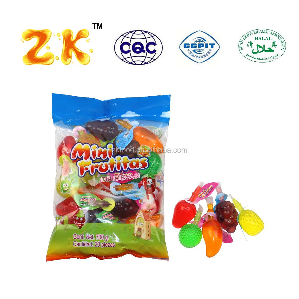 HACCP 35g suck fruity gelatin mixed fruit shape jelly