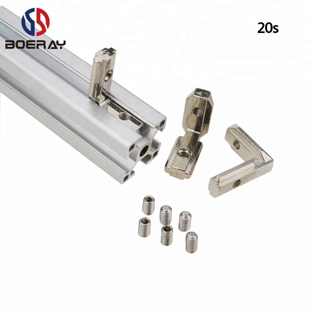 T slot aluminum profile 2020 series extrusion connect L shape inside corner angle joint