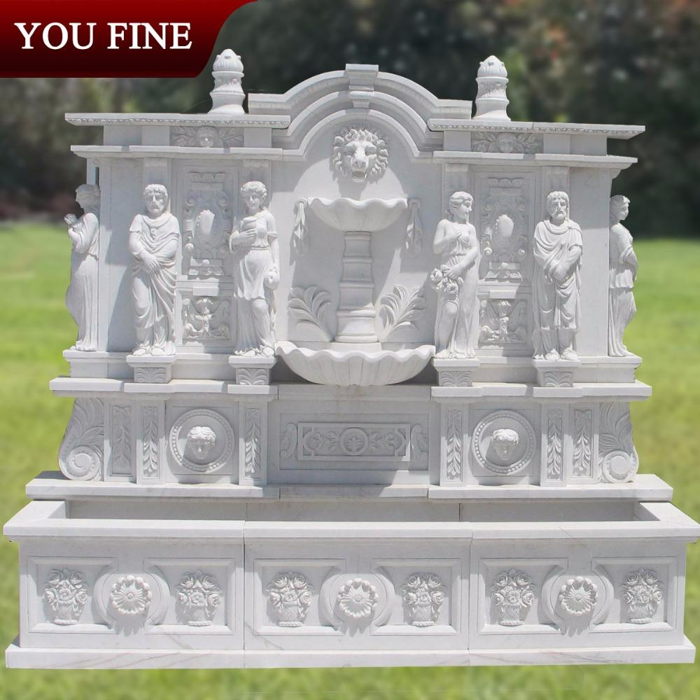 Large Stone Statue Wall Fountain
