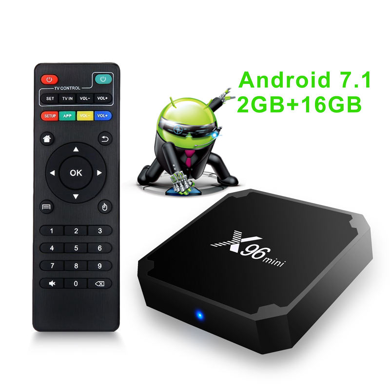 2019 nuevo Hd 1080P 1GB 8GB Smart 7 TVBOX de actualización del Firmware S905W 4K X96 Mini Android 7,1 Tv Box