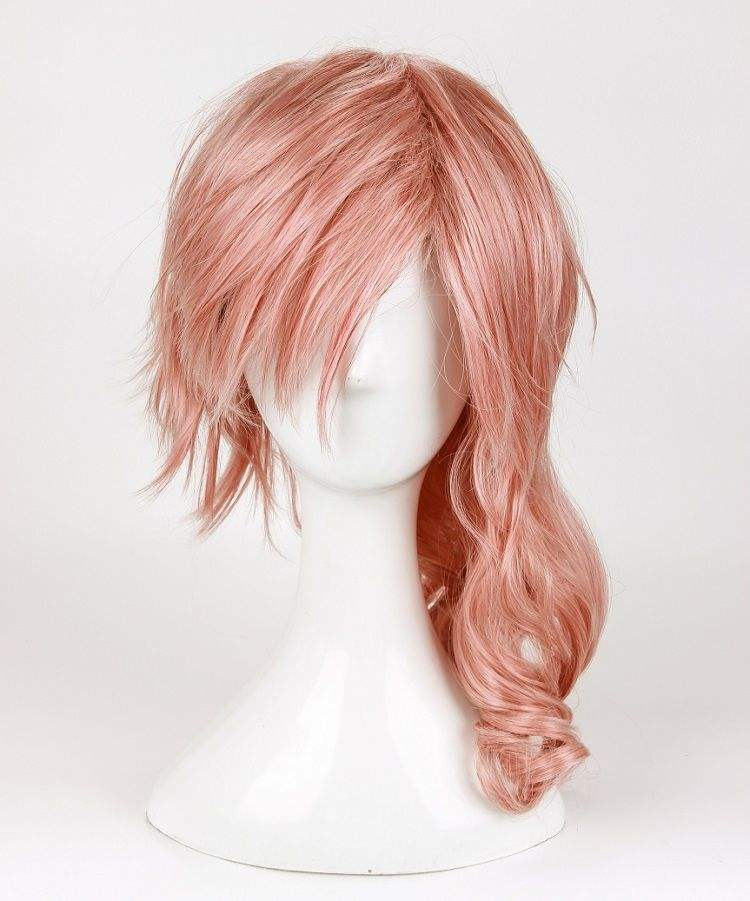 Hot Sell Final Fantasy Lightning Wig 합성 Wig 새 긴 Mix Pink 코스프레 Wig BD682