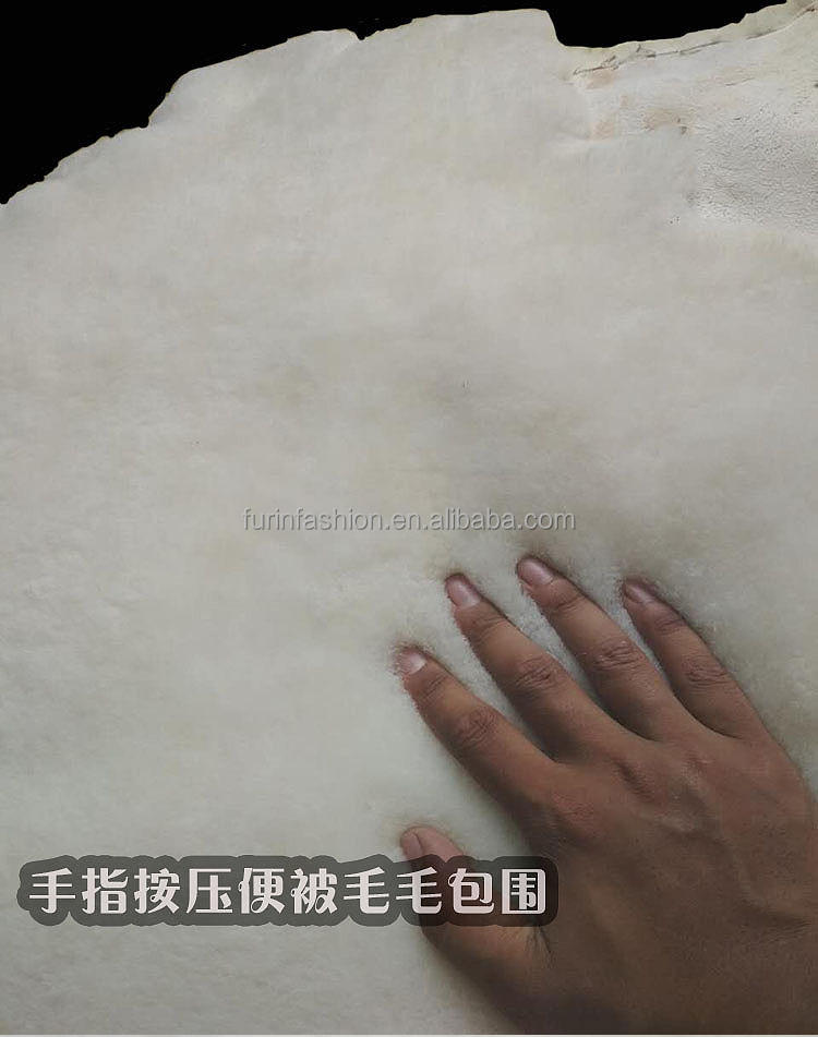 2018 Real Merino Sheep Shearling Fur Skins Hides for Coat/Jacket/Parka Lining/Garment Double Face Lamb Sheepskin Sheared