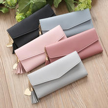 2019 Fashion Heart Pendant Long Wallet PU Leather Women Wallets clutch Bag Fashion Women's Purse