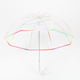 23 inch automatic custom clear vinyl pvc transparent umbrella with custom designs