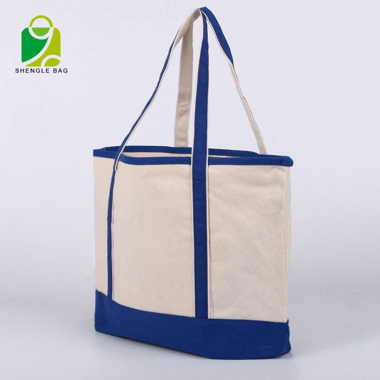 Fabriek directe verkoop goedkope recycle tote shopping beach gift carring canvas katoenen zak