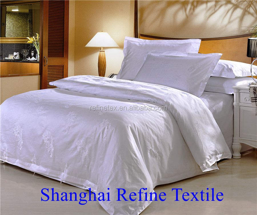 cotton bedding, cotton sheet bedding used for hotel
