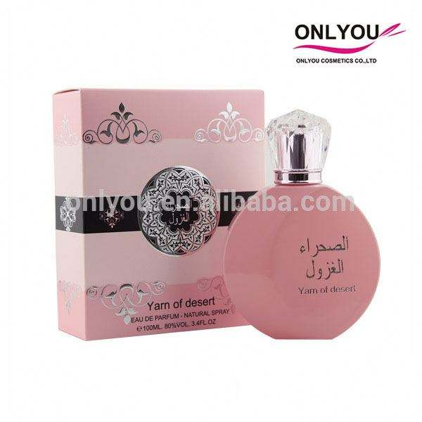 Pink Floral Arabic Parfum/Female Perfume with Clear Acrylic Cap