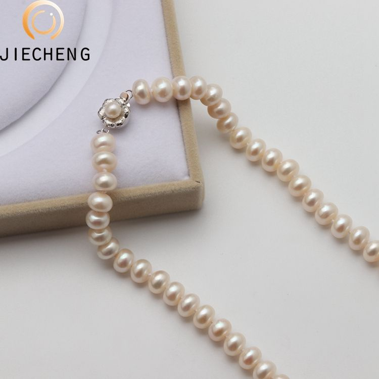 High quality freshwater 9-10mm aaaa freshwater love wish pearl necklace freshwater pearls necklace