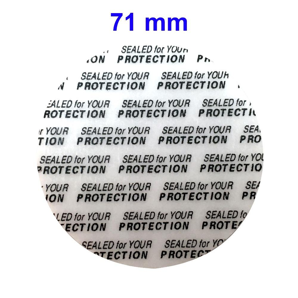 71 mm Press and Seal Safety Liners -Tamper foam seal bottles & jars