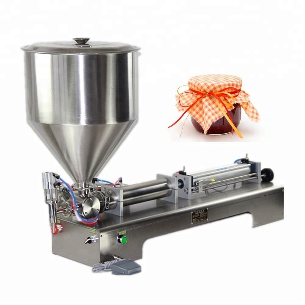 Shanghai Joygoal semi-automatic single head paste double head filling machine foot- foot filling liquid soap making machine