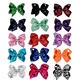 Wholesale Double Layers Grosgrain Ribbon 5 inch Sequined Classic Hair Bows