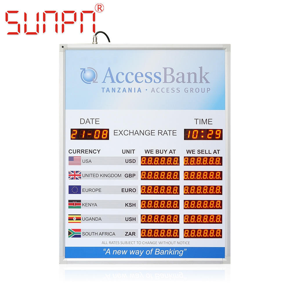 Indoor [ Led Board Indoor ] Indoorindoor Nigeria LED Exchange Rate Display LED Exchange Rate Board Indoor