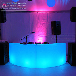portable dj table stands / acrylic led light dj booth table ( BC140 )