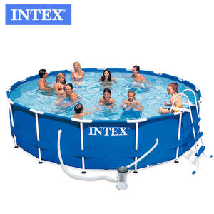 Intex 54940 15FT X 42IN above ground pool and metal frame swimming pool set