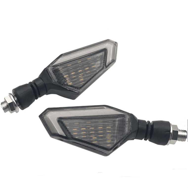 12V LED Light Dual Color Turn Signal Amber Lighting Turn Signal Indicators Winker Lamps for Motorcycle
