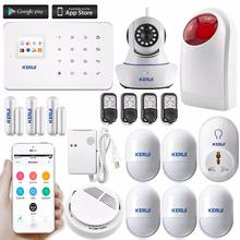 2018 hot KERUI alarm G18 with wireless motion sensor gsm security wireless smart security alarm system