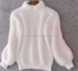 custom ladies warm winter heavy thick mohair mink knitted sweater