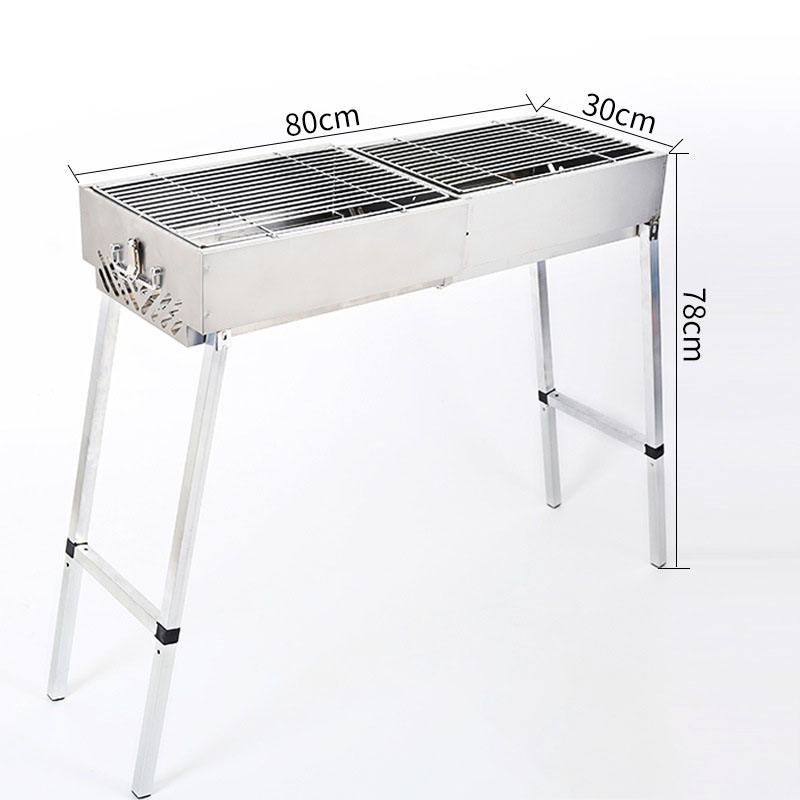 Hoge Kwaliteit Outdoor camping opvouwbare <span class=keywords><strong>rvs</strong></span> <span class=keywords><strong>houtskool</strong></span> <span class=keywords><strong>bbq</strong></span> grill