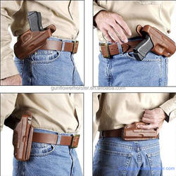 4 Position Comfortable Vegetable Tanned Leather Gun Holster For M1911 Glock 17 19