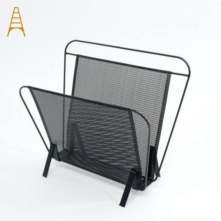 Creative Design European Style Counter Metal Wire Newspaper Rack