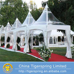 High peak transparent marquee party wedding tent