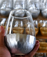 Silver Bottom egg shape wine glass cup juice glass cup from Wenxi Xinmin Glassware Factory
