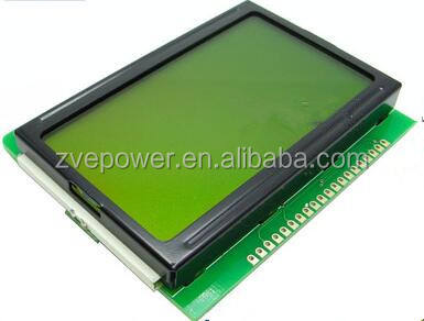 12864 128x64 HD44780 LCD Character Display Module Amarelo Backlight Verde para Ardu DIY