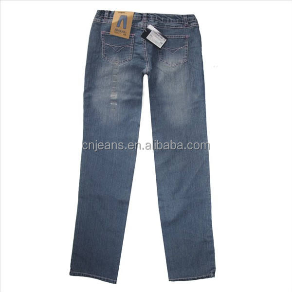 GZY guangzhou usine filles maigre stock indien fille jeans