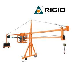 Material loading lifting hoist suspended platform