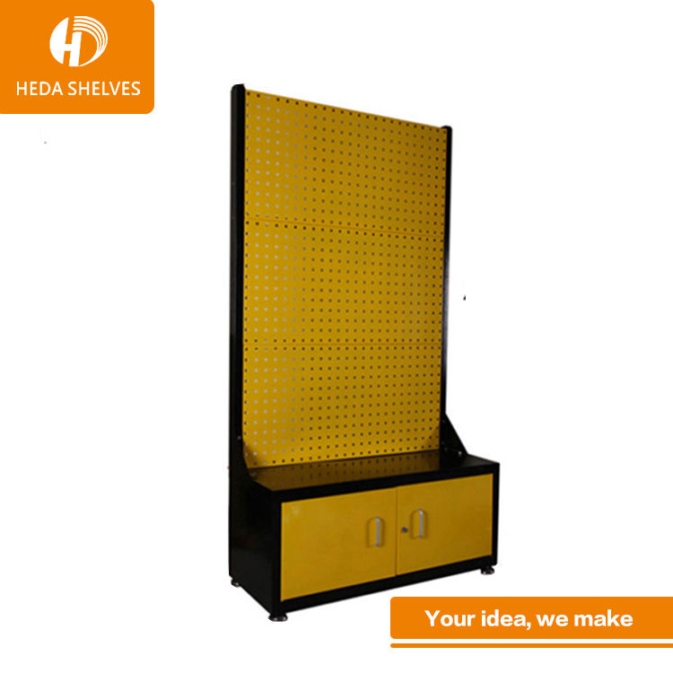 trade show exhibition stand free standing pegboard display