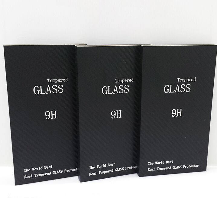 High Quality Tempered Glass Screen Protector Retail Package Box Wood Kraft Carton Packing