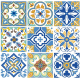 Vinyl Tile Stickers Traditional Floor Tiles Stickers Removable Bathroom & Kitchen Tile Decals Easy to Apply