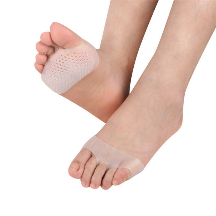 Medical Honeycomb Silicone Gel Anti-slip Forefoot Half Yard Insoles for High heel Shoes Sore Pain Relief Toes Pads Insole