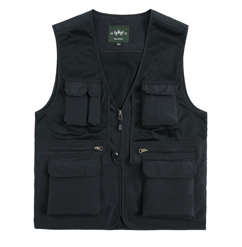 Men's Multi Pockets Cargo Waistcoat Vest For climbing fishing shooting Hiking Journalist Photography Vest Waistcoat