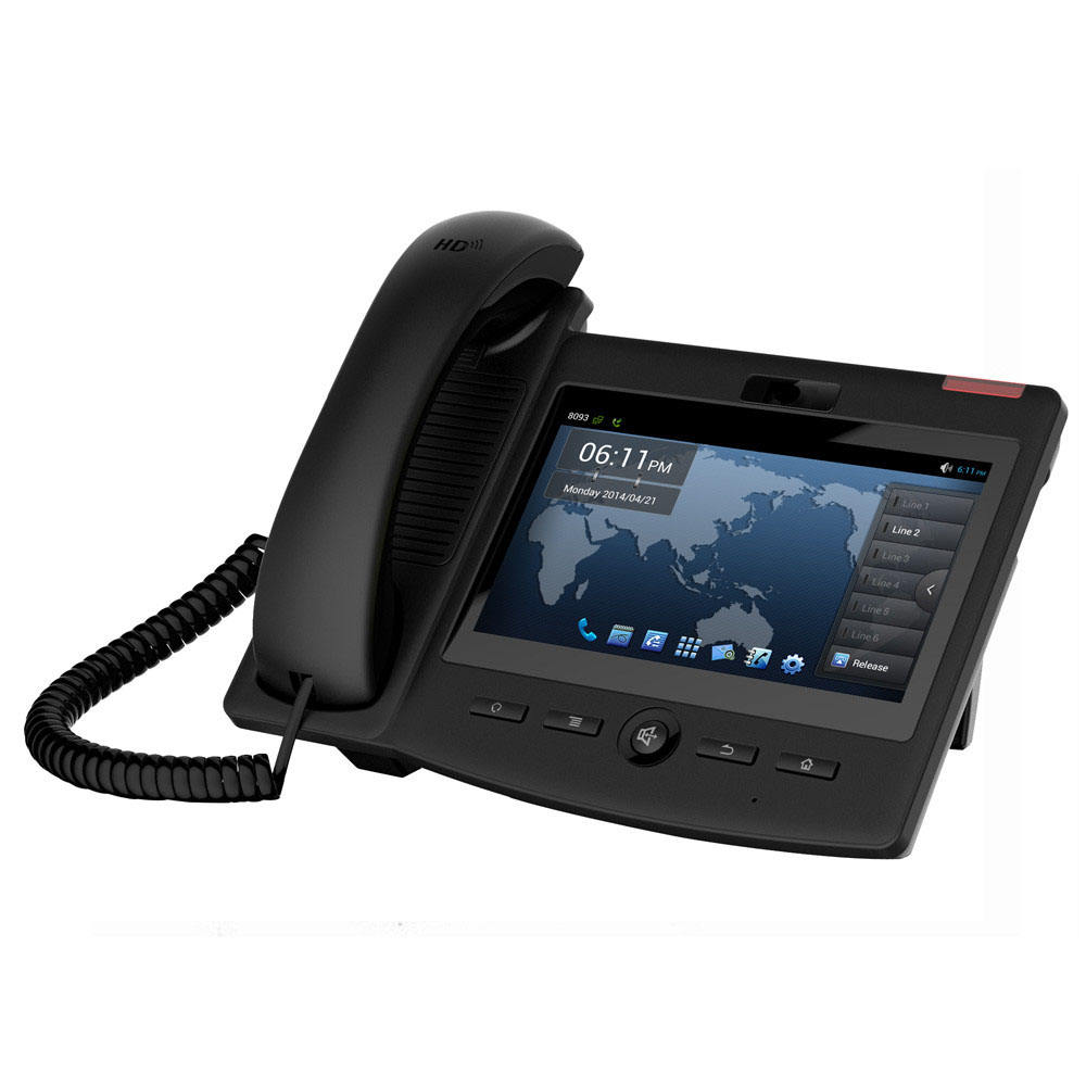 Layar Sentuh 7Inch Android 4.2 Fanvil C600 Video <span class=keywords><strong>VOIP</strong></span> Telepon IP